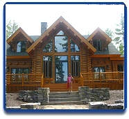 Log Home in Maine